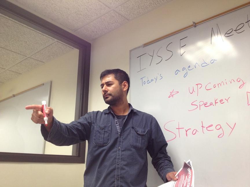 Atif Jadoon leading a meeting.