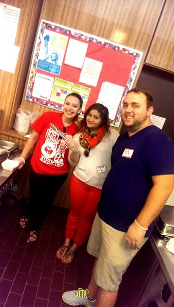 SCEC members hanging out: Joselyn Badillo, Alysha Gillani, Chad Ziarko (from left to right).