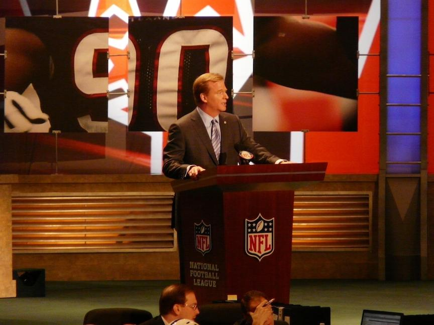 NFL Commissioner Roger Goodell will be hosting his eighth NFL draft in 2015.