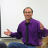 Timothy Libretti, the chair of the English department in classroom discussion