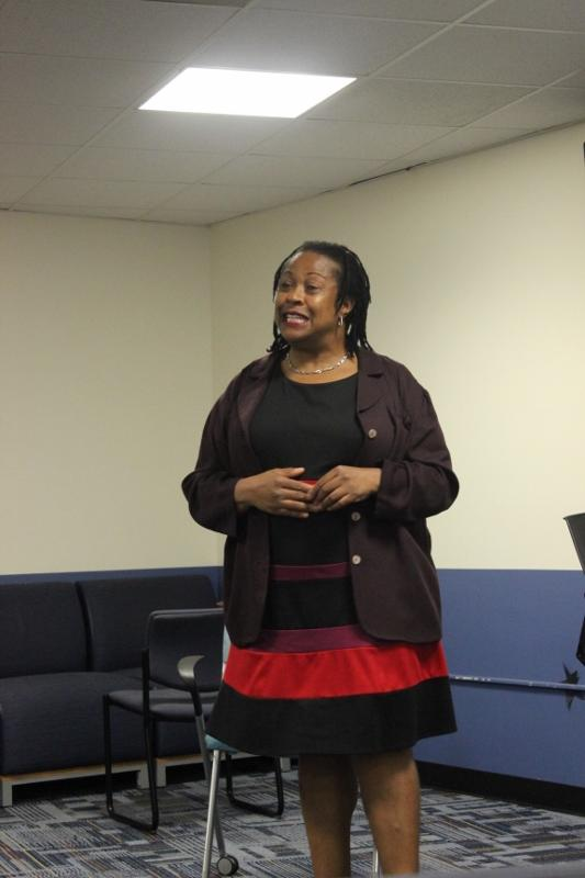 Maudlyne+Ihejirika+leads+a+powerful+talk+that+motivates+students+and+teachers+alike.