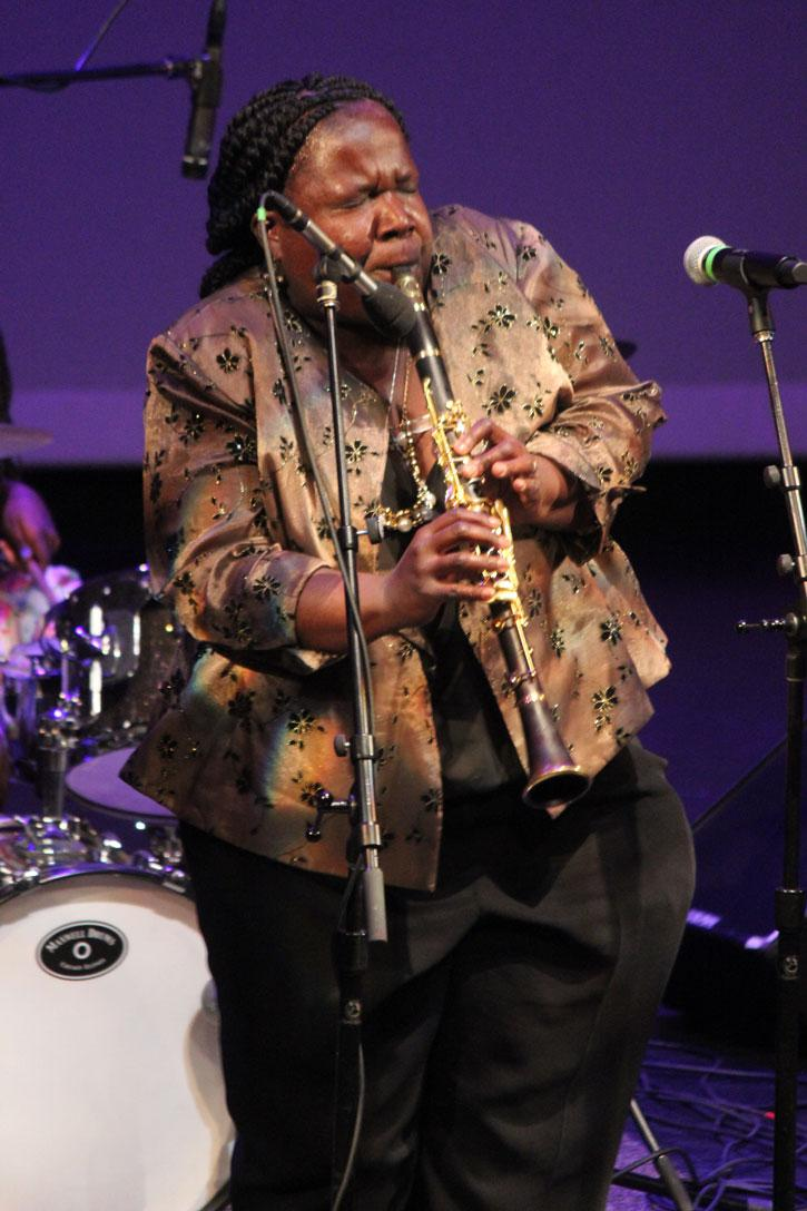 Doreen Ketchens plays jazz on her clarinet.