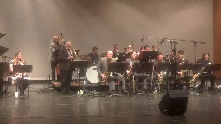 The+Varsity+Big+Band+performs+classic+Jazz+music.