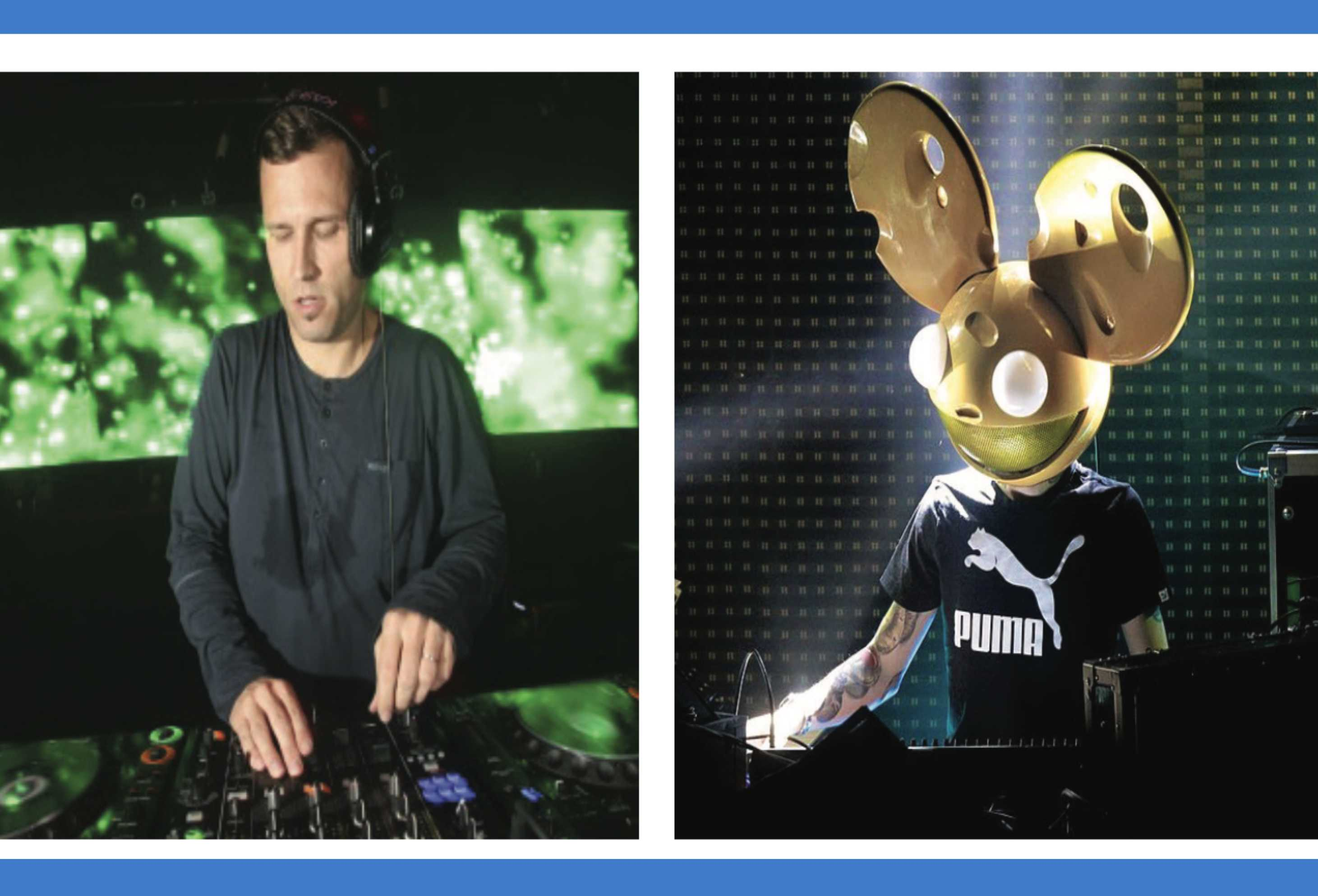 """Kaskade (left) and deadmau5 (right) released the latest version of """"Beneath With Me"""" on Oct. 7."""