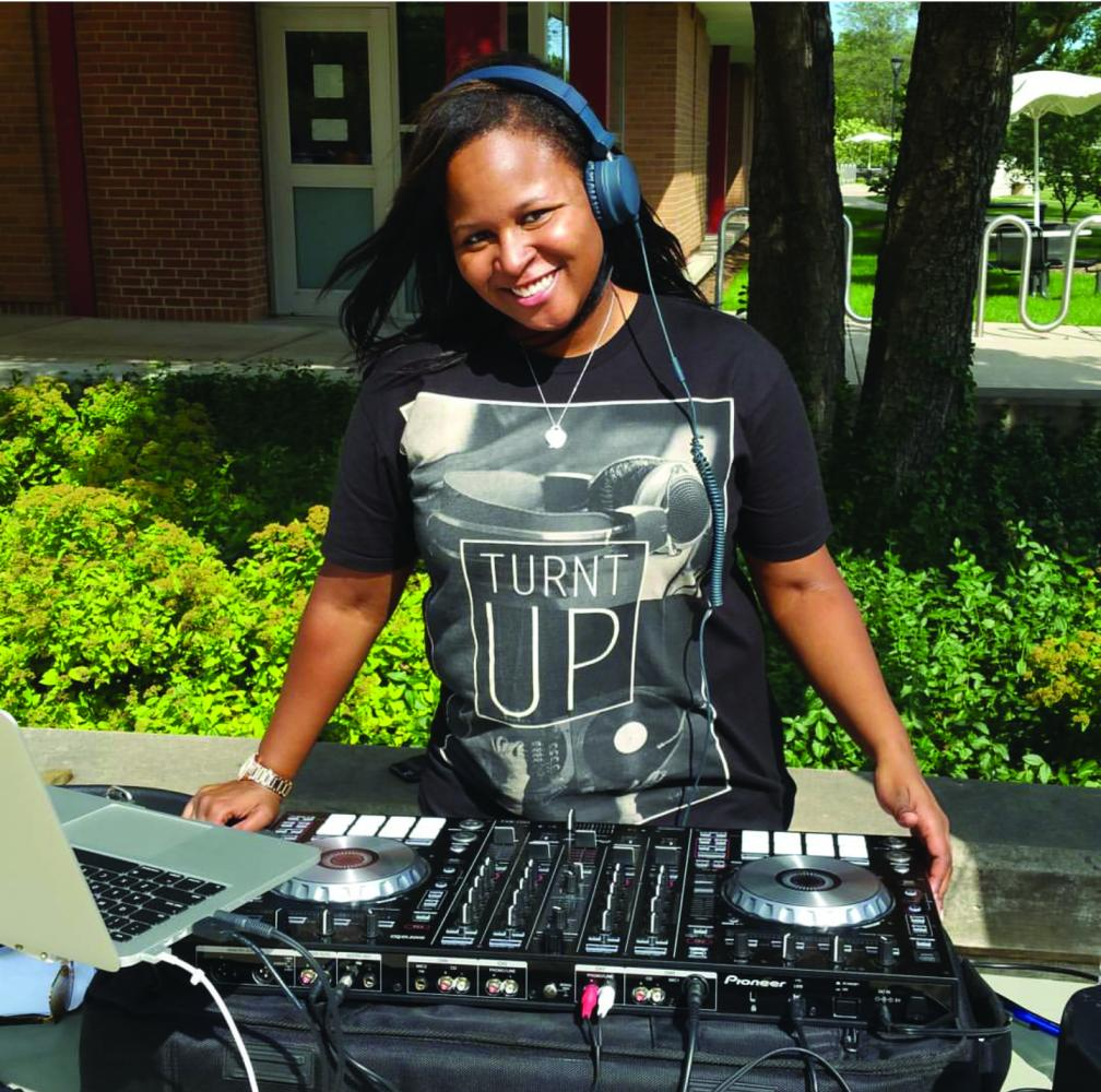 DJ Stack performing at First Fridays event on NEIU's Main Campus. You can learn more about DJ Stack on her website at www.DJStack83.com.