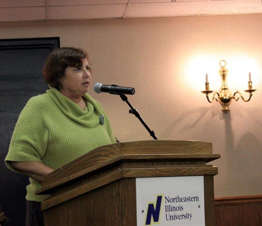 Loretta Capeheart Speaking at BOT meeting <br /> Photo by Gary Soriano