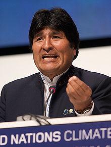 President of Bolivia Evo Morales December 2009 Photo by Simon Wedge