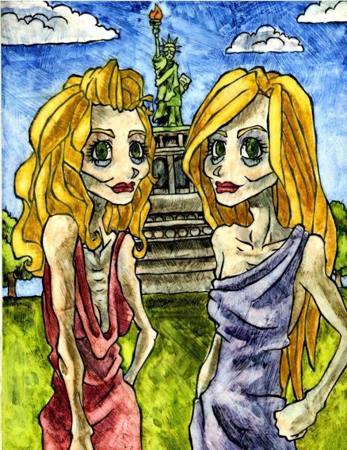 Twins on Liberty Island
