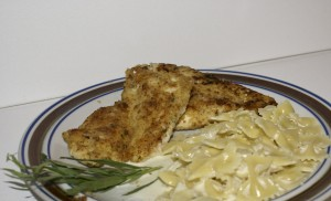 Tarragon Chicken and Pasta with Cream Sauce.