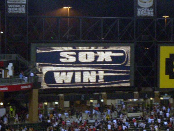 Sox Win - Photo by Katie Kelly