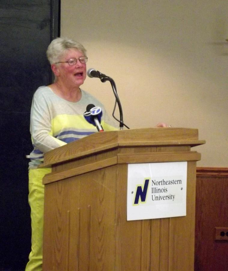 Dr. Connie Speake was one of the few public commenters who spoke in favor of student housing.