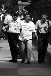 Immigration reform leader arrested.