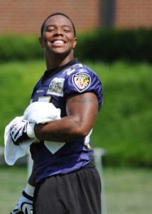 There is very little for Ray Rice, or anyone in the NFL com- munity to smile about these days.