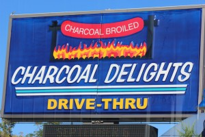Steak or cake? Take your pick at Charcoal De- lights.