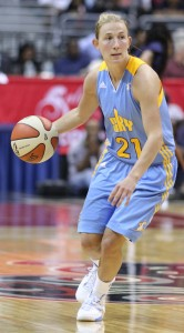 Guard Courtney Vandersloot has played great through the first two rounds of the playoffs. She must continue that in the WNBA Finals if the Sky hope to win.