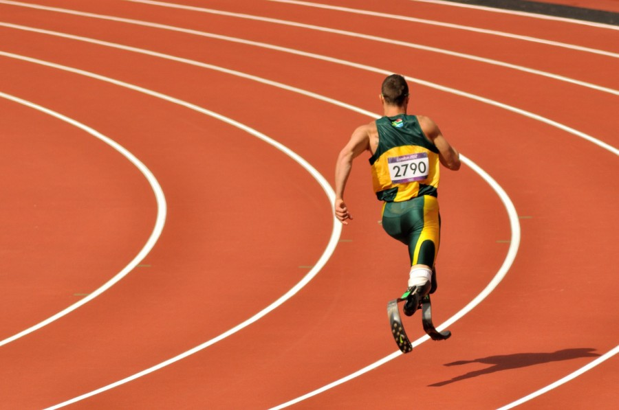 "South African sprinter Oscar Pistorius aka ""Blade Runner""."