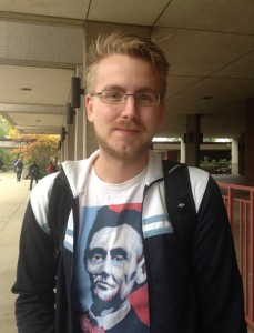 """Thomas Montbriand, 23, Junior Montbriand is going to be strapping on the lederhosen for Halloween this year. """"If I go to a party that is what I will be because I speak German,"""" he said."""