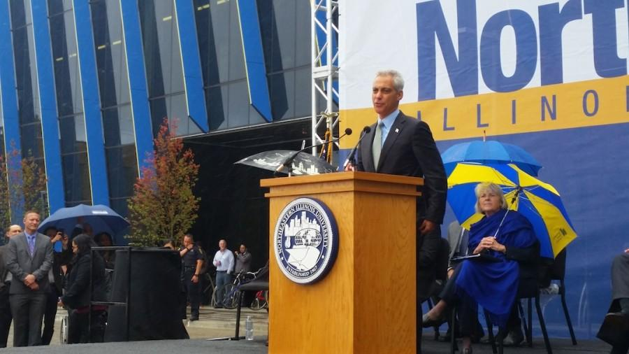 Rahm shares how his mother attended Northeastern to continue her education.