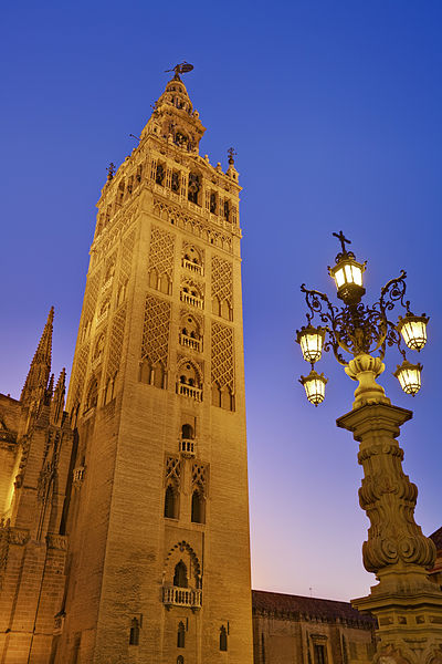 Seville, Spain is known for architecture that blends European and Islamic sensibilities.
