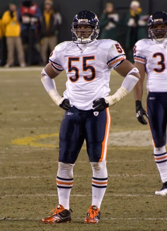 Briggs led the Bears in tackles during thei r run to the 2007 Super Bowl with 109.