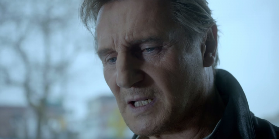 A+distraught+Liam+Neeson+in+the+Super+Bowl+advertisement+for+Clash+of+Clans.