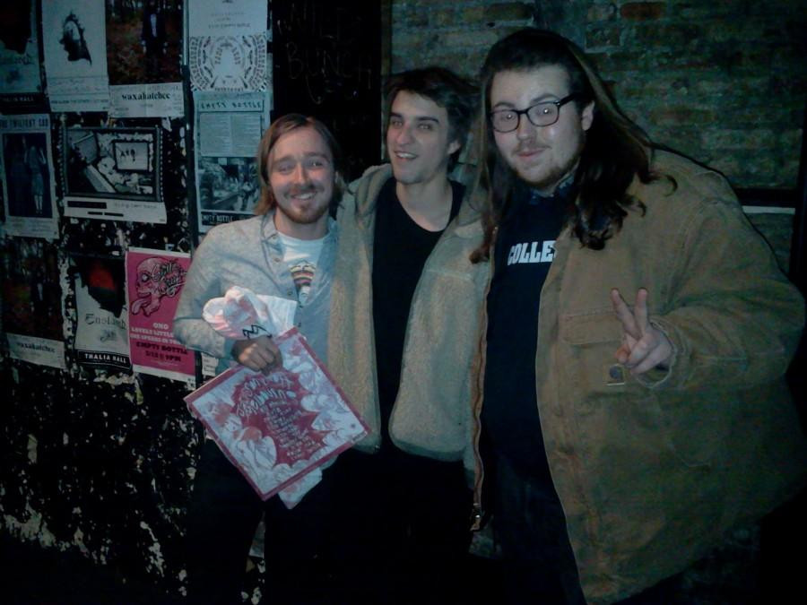 WZRD station manager, Jonathan Extract, and Music Director and writer of this article, Eddie Pedvin, interviewing Jackson Scott after a show at the empty bottle.