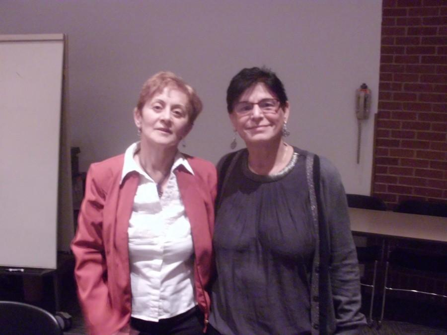 Dr. Rabab Ibrahim Abdulhadi (right) and Dr. Simona Sharoni (left) have travelled across seven different campuses on the west coast, and plan to have talks at different campuses along the east coast as well.