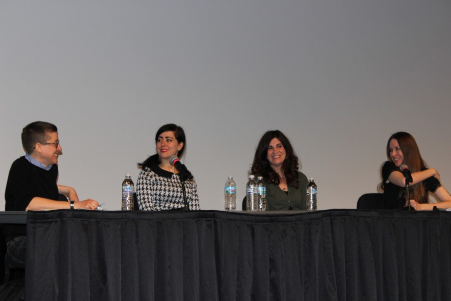 A.K. Summers, Nicole Georges, and Phoebe Gloeckner speak on their work at the Graphic Novelists Panel of the Visiting Writers Series.