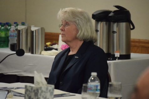 Amid the public comments, Hahs maintained a visually calm demeanor