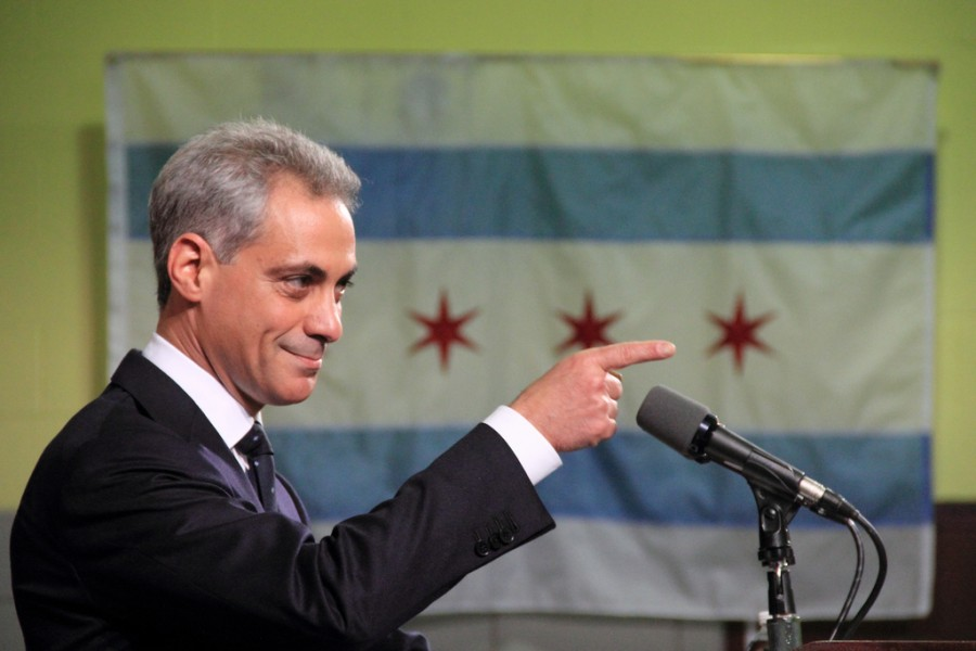 Mayor Rahm Emanuel defeated opponent Jesus
