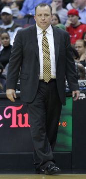 Former Coach Tom Thibodeau left the Bulls after five seasons with a record of 255-139