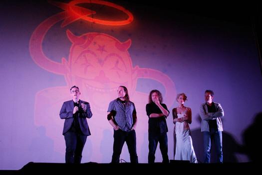From left to right David Lynn Bousman, Ter rance Zdunich, Saar Hendelman, Emilie Autumn and Adam Pascal.