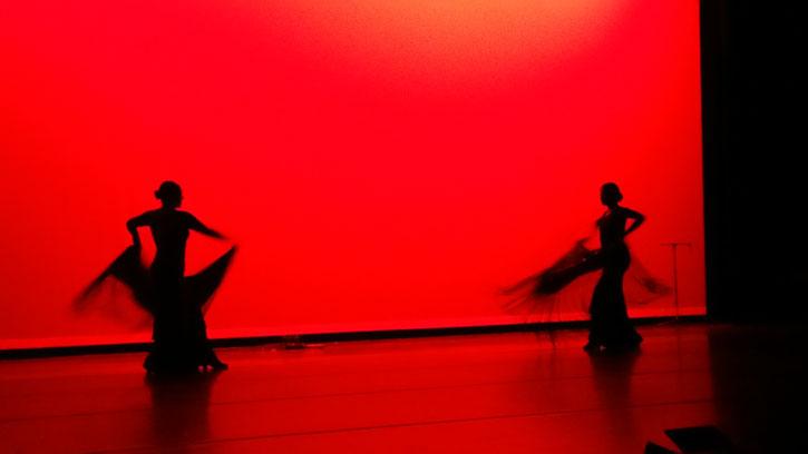 Tasiana Villalobos and her partner perform a flamenco dance entitled Bellamente Roto.