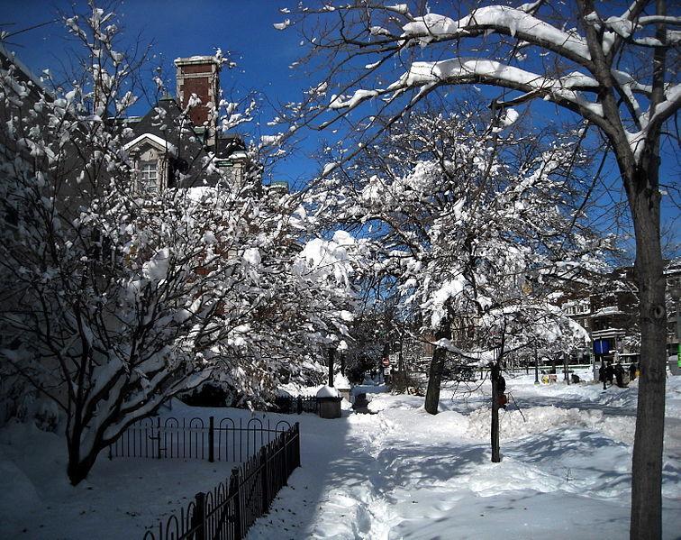 The familiar scene of unkept sidewalks in the wintertime.