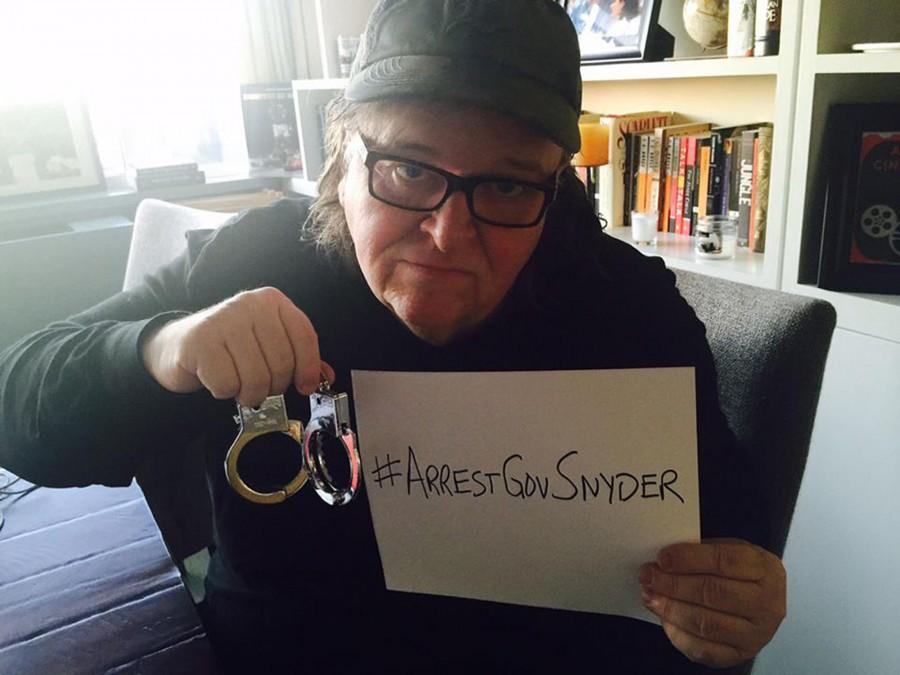 Documentary+filmmaker+and+Flint%2C+Mich.+native%2C+Michael+Moore%2C+wants+to+see+Gov.+Rick+Snyder+arrested+for+poisoning+Flint%27s+water.%2FPhoto+courtesy+of+Michael+Moore+via+Facebook+
