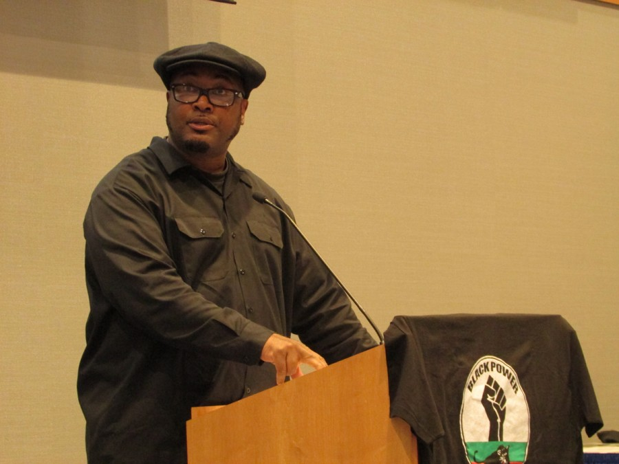 Fred Hampton Jr. spoke on the Black Panthers fight for civil rights and his fathers legacy in that battle.