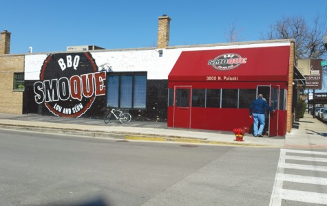 Smoque BBQ is located just off the Irving Park Blue Line Stop.