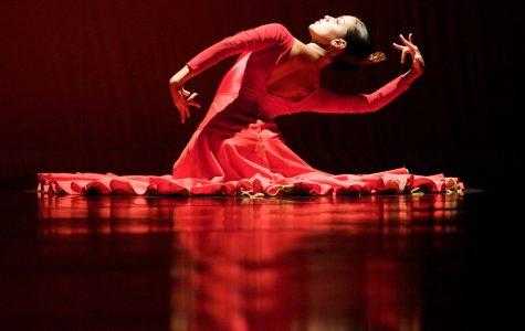 Company dancer Monica Saucedo dances in Dame Libby Komaiko's