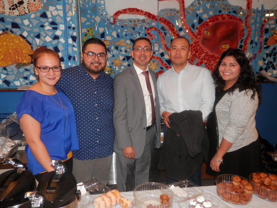 (Left to right) Alicia Rivera, Adrian Hernandez, Eddie Bocanegra, Jesse Huerta and Jadirah Sanchez at last year's Day of the Dead at El Centro