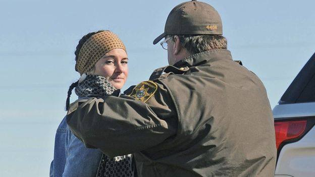 Shailene Woodley was arrested on Oct. 10 while protesting the construction of the Dakota Access Pipeline.