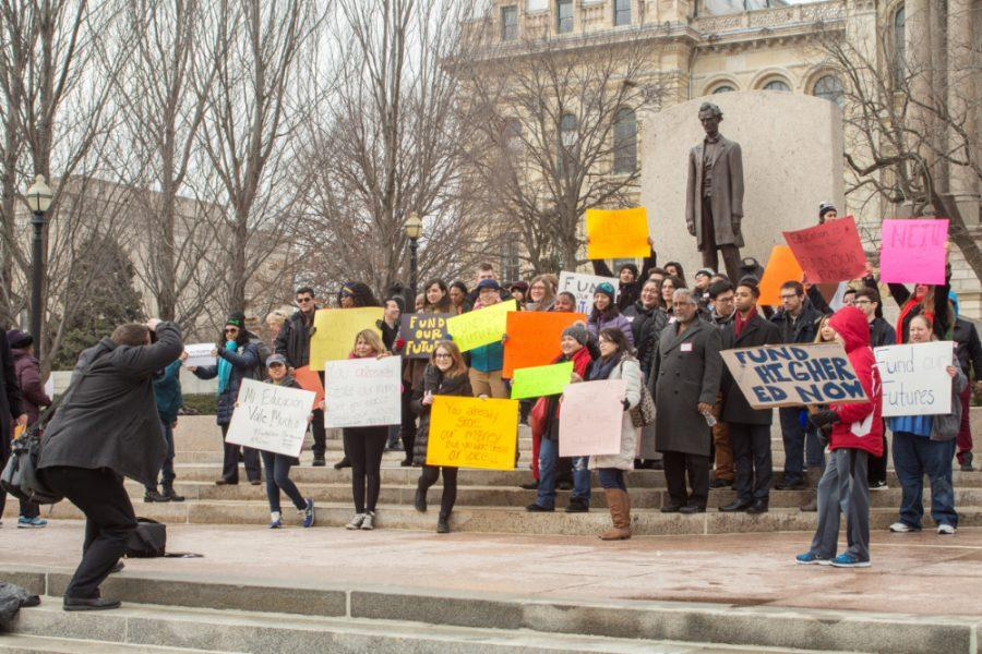 Protesters+head+to+Springfield+for+the+second+%E2%80%9CStatehouse+Rally+for+Higher+Education.%E2%80%9D+