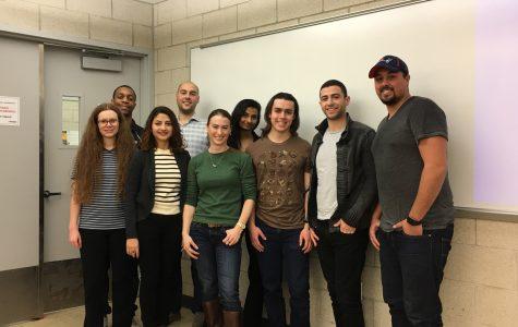 Left to right, back row: David McCoy, Austin Leatham, Ashiya Patel Left to right, front row: Lauren Rabe, Dikshya Acharya, Rachel Trana, Emmet Hilly, Yaakov Kalman, Joseph Rodriguez