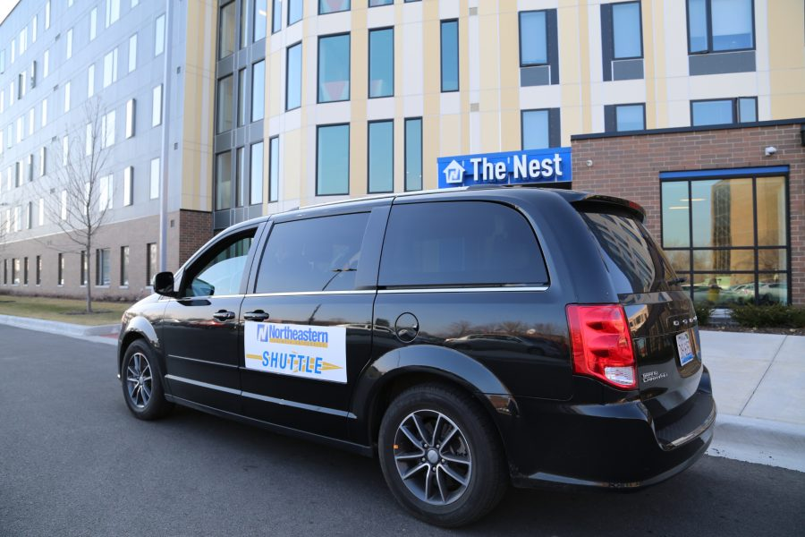 All aboard! NEIU's new shuttle takes students where they need to go.