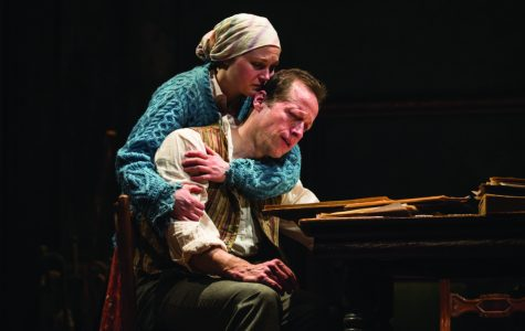 Caroline Neff (Sonya) and Tim Hopper (Vanya) in the Chicago premiere of Annie Baker's adaptation of Anton Chekhov's Uncle Vanya, directed by Robert Falls.  Tickets can be purchased at GoodmanTheatre.org/UncleVanya