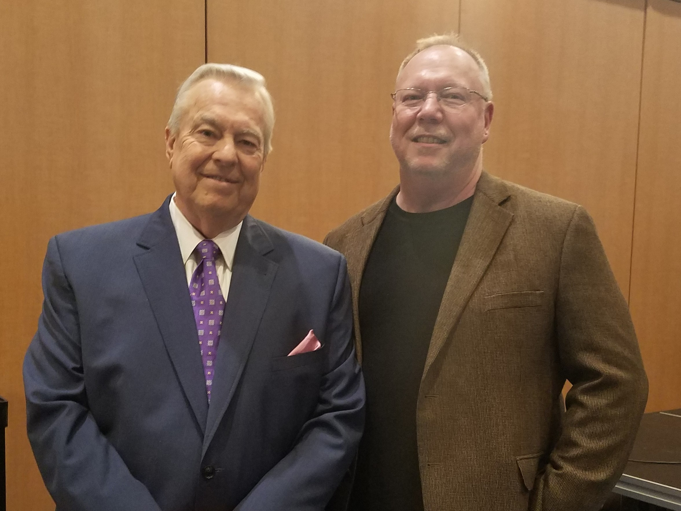 Bill Kurtis (left) and John St. Augustine have shared their passion for conservation for 27 years.