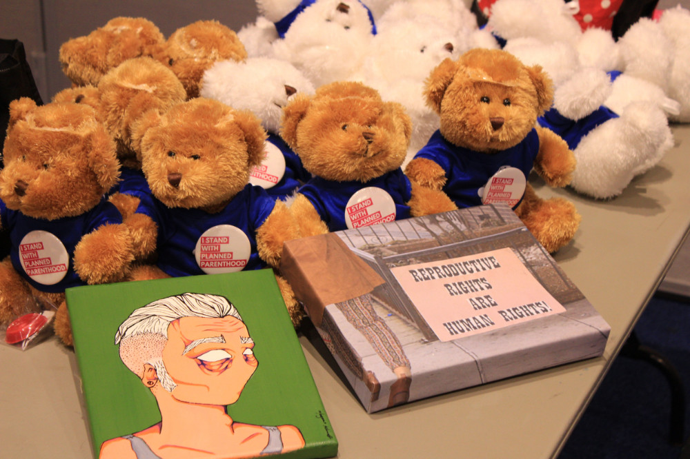 (Teddy Bears): All of the proceeds from ticket sales were donated to Planned Parenthood of Illinois and the VDay Foundation.