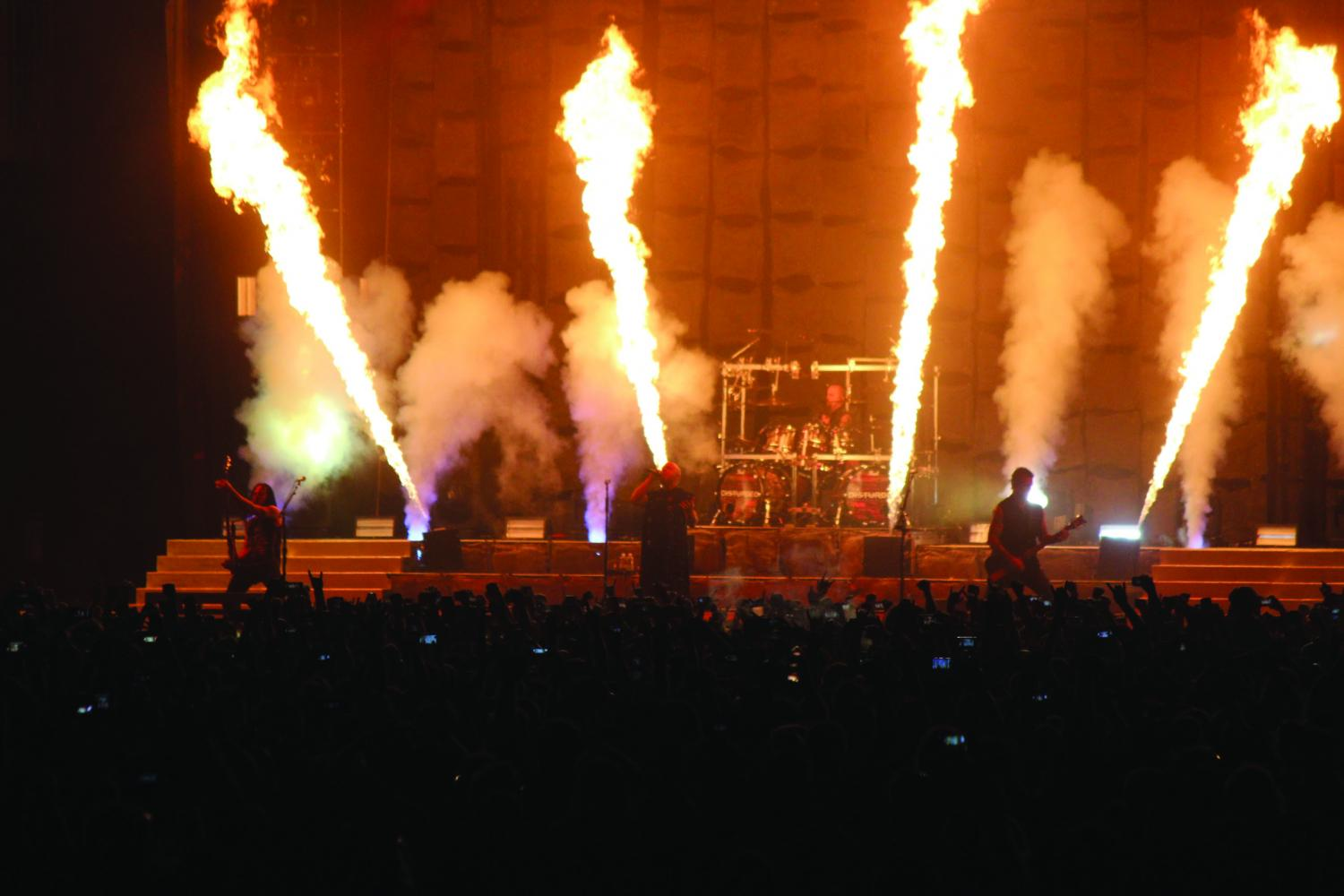 Disturbed performing at the 2016 Chicago Open Air.