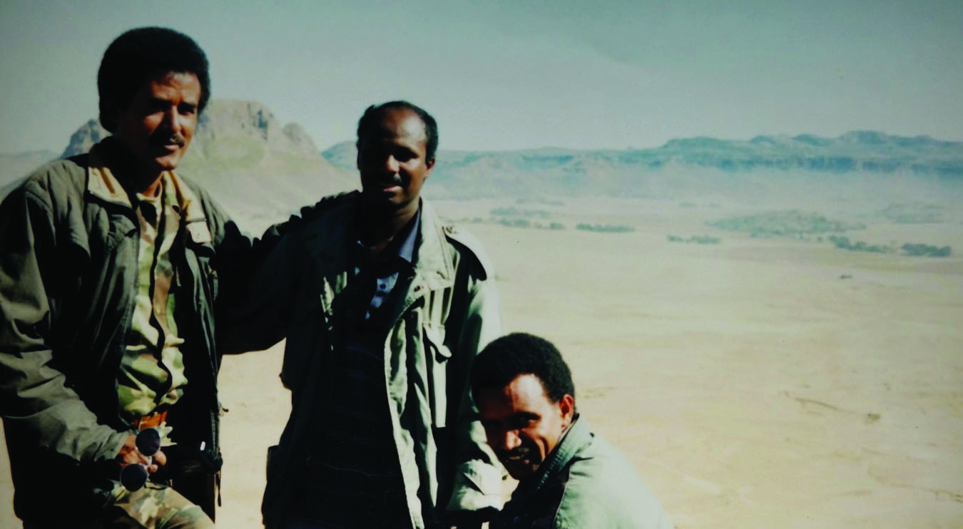 u201cBerhance with two Eritrean army commandersu201d From