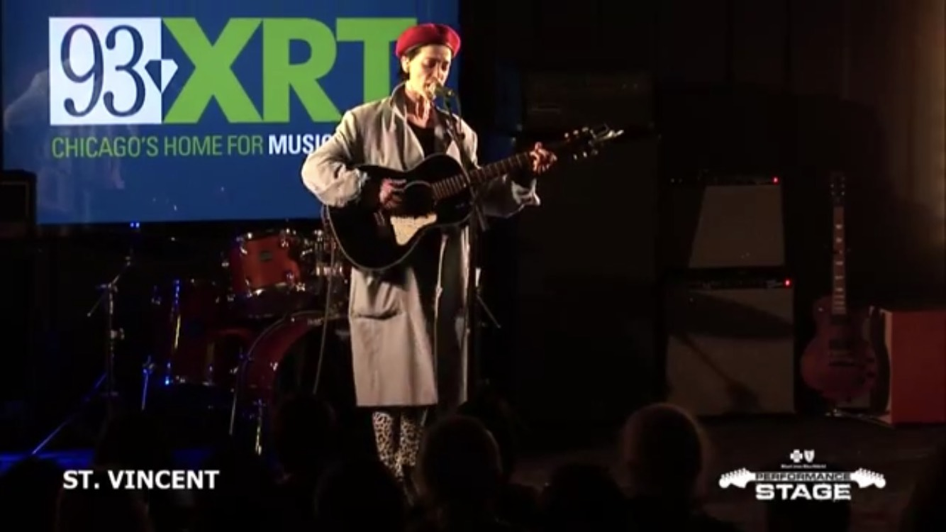 St. Vincent performed three songs at WXRT Chicago's Blue Cross Blue Shield Performance Stage on Nov. 16