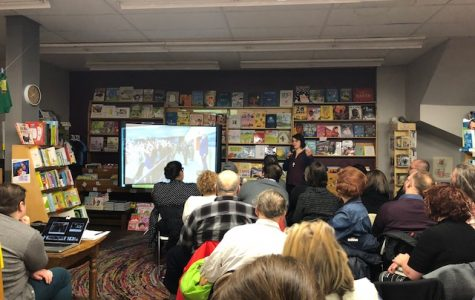 Alicia Eler described her book at the event held at the Women and Children First bookstore in Chicago